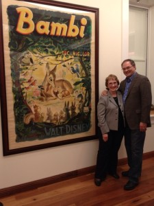 Lowell & Barb at the museum with the Bambi Poster.